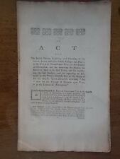 Antique 1798 ACT for better Paving & Lighting in NEWARK Nottinghamshire c18th