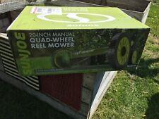 Sonjoe 20-Inch Manual Quad Wheel Reel Mower Brand New