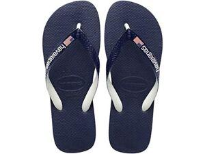 Havaianas Unisex Top USA Logo Flip Flop Sandals - Navy Blue NWT