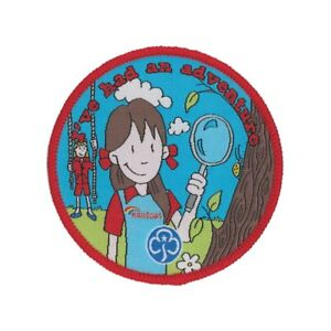Rainbows I've Had An Adventure Woven Badge. OFFICIAL SUPPLIER