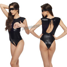 Sexy Women Bondage Cupless Fetish-wear Costume Dress Restraint  Bodysuit Catsuit