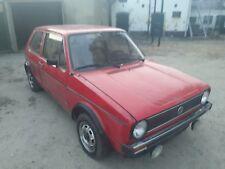 VW Golf 1 EZ 1978 Bronzeverglasung Projekt Winterprojekt chrom rot selten