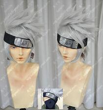 NARUTO Hatake Kakashi Cos Wig Silver Gray Cosplay Wig Hair