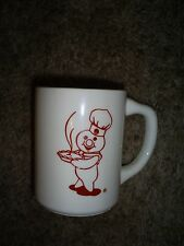 Pillsbury Doughboy Red Outline Carrying Pie Coffee Cup - Extremely Rare
