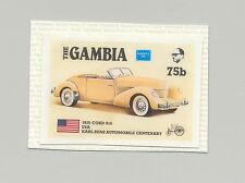 Gambia #621 Automobiles, Cord, Ameripex 1986 1v imperf chromalin proof mounted