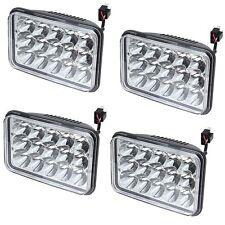4PC 4x6 LED Sealed Beam Headlights For Kenworth T400 T800 T600 W900L W900B