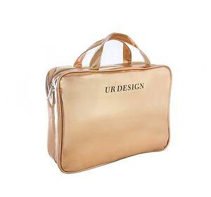Makeup Bag Cosmetic Case Toiletry Travel Organizer Large Siz Rose Gold