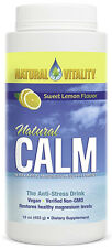 Natural Vitality Natural Calm Sweet Lemon Magnesium Powder Supplement 16 Oz