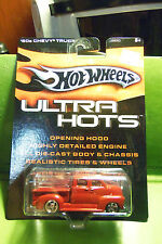 Hotwheels Hot Wheels Die Cast Car Red Ultra Hots 1950s 50s Chevy Real Tires