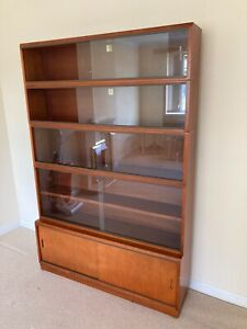 Mid Century Teak Sectional Bookcase By Simplex - Library Specialists