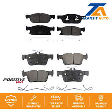 Front Rear Semi-Metallic Brake Pads Kit For Ford Fusion Lincoln MKZ Continental