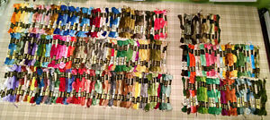 Huge Lot DMC embroidery threads 250+