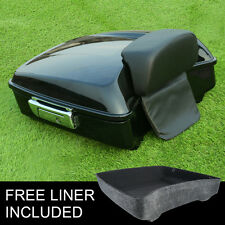 Chopped Tour Pak Trunk Backrest Pad For Harley Touring Street Glide FLHR 14-18