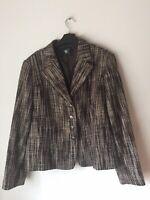 POLA Made In Finland Ladies Smart Tweed Style Short Career Jacket, Size 44