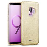 Handy Hülle für Samsung Galaxy A6 Schutz Hülle Silikon Cover Glitzer Slim Case