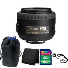 Nikon AF-S DX NIKKOR 35mm f/1.8G Lens + 8GB Top Accessory Kit