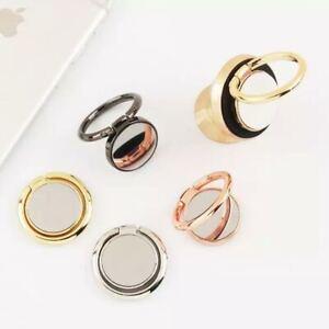 Universal 360 Rotating Finger Ring Stand Holder For Cell Phone - Magnet Mirror