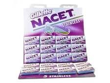 50 Gillette Nacet Stainless Double Edge (DE) Razor Blades