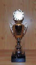 1 Henkelpokal Wanderpokal gold mit Emblem 34cm #EZ16 (Pokal Pokale Gravur Sport)