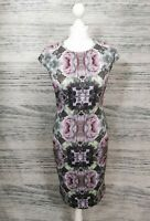 Ted Baker Cambree Rose Floral Midi Bodycon Dress Size 2 UK 10