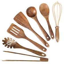 Wooden Kitchen Utensil Set Cooking Set Organic Teak Wood Spoons Non-Stick Coo...