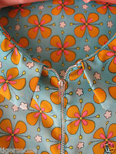Rare! Vtg 60s 70s Handmade Floral Hippy GoGo Pinafore Shift Babydoll Mini Dress
