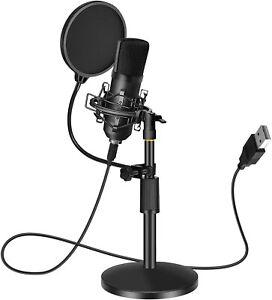 Microfono Professionale USB Studio Registrazione Treppeiede PC PS4 PS5 + Filtro