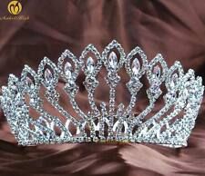 Stunning Full Round Tiara Rhinestones Crystal Crown Pageant Wedding Bridal Party