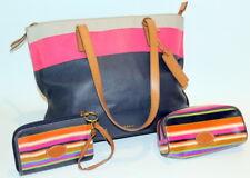 Fossil Large Leather Purse Handbag Shoulder Bag Tote Wristlet Makeup