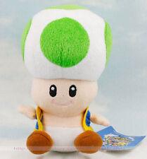 "New Super Mario Bros 7"" 18cm Green Mushroom Toad Plush Toys Soft Doll Kids Gift"