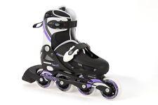 Osprey Girls Inline Skates Black White And Purple Size 12-1 (EU 31 - 33)