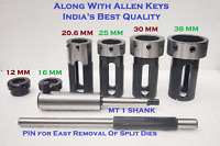 Lathe Tailstock Die Holder Set Of 6 Floating Type MT1 SHANK Holds Metric Die @