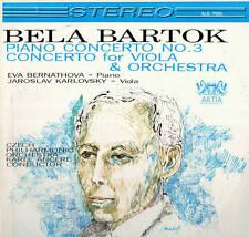 CLASSICAL LP BELA BARTOK PIANO CONCERTO NO. 3 BERNATHOVA KARLOVSKY