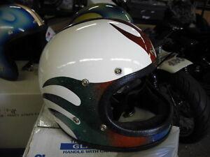 SS Super Champion Racer motorcycle helmet 1970s Harley flames Large EPS14406
