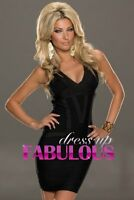 NEW SEXY DRESS FORMAL PARTY DANCE GOING OUT NIGHT CLUBBING Sz 4 6 8 10 12 S M L