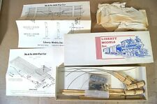 LIBERTY MODELS INC O SCALE Ma & Pa 1906 FLAT CAR WOODEN MODEL KIT MINT BOXED mz