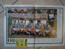 POSTER FC JUVENTUS JUVE LA SQUADRA FORMAZIONE 85 86 1986/1986 GUERIN SPORTIVO