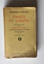 THEOPHILE GAUTIER - EMAUX ET CAMEES 1954 / POESIE / CLASSIQUE GARNIER
