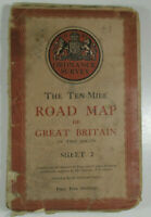 1946 Old Vintage OS Ordnance Survey Ten-Mile Map Great Britain Sheet 2 South