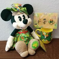 Disney Parks Minnie Mouse Set Plush, Pin, Mug May Main Attraction Enchanted Tiki
