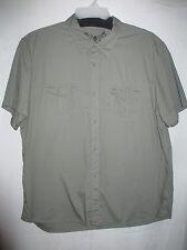 Cavin Klein Men's XXL Short Sleeve Casual Button Down Shirt Sage Green Cotton