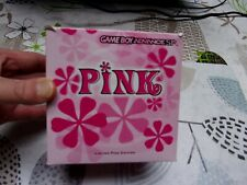 CONSOLE NINTENDO GAME BOY ADVANCE SP LIMITED PINK EDITION EN BOITE