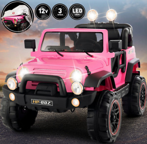 12V Electric Battery Kids Ride on Truck Car Toy MP3 Remote Control w/Cover Pink