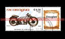 DOUGLAS 500 SW5 OHV 1928 - NICARAGUA Moto Timbre Poste