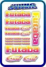 FUTABA SERVO RADIO RX TX 2.4G FLIGHT REMOTE CONTROL STICKERS FASST PINK YELLOW W