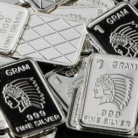 Bullion ! 1 Gram .999 Fine Pure Silver #18 SKULL