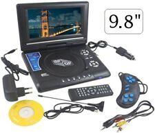 LETTORE DVD PORTATILE 9.8 POLLICI LCD DVX VIDEO CD MP4 TV FOTO JOYSTICK GIOCHI