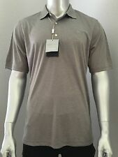 NEW Greg Norman Signature Series Play Dry Golf Polo Large L Grey Gray Heather