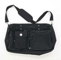 Preworn Black Synthetic Mens Bag
