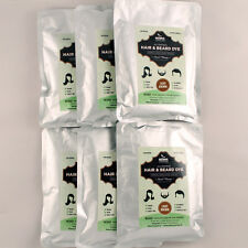 PACK OF 6 Light Brown Henna Hair & Beard Dye | 100% Natural | Henna Color Lab